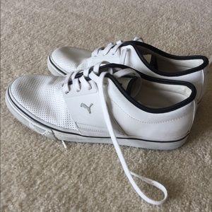White leather puma shoes size 9